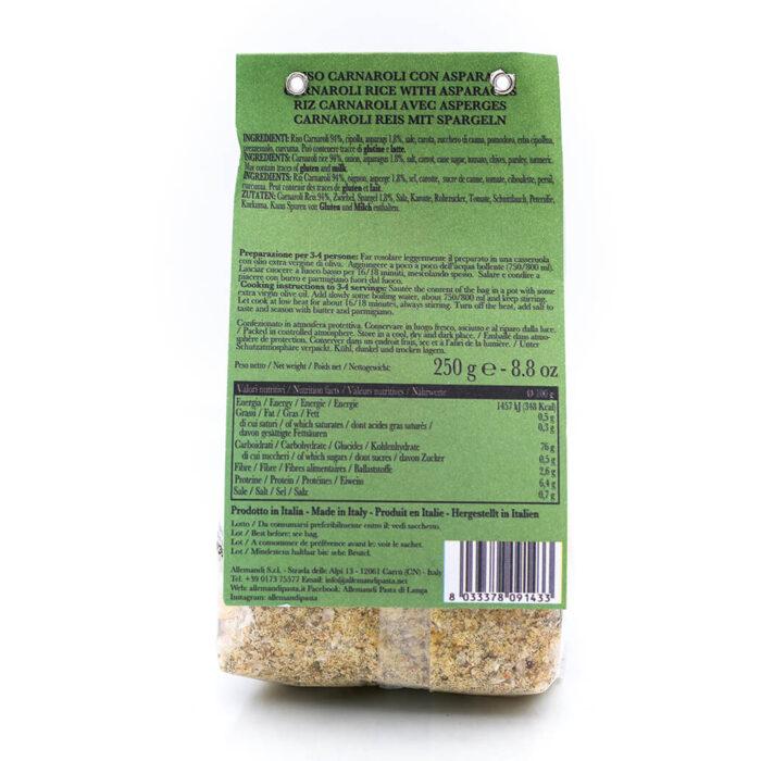Risotto con asparagi - Preparato per risotti - Allemandi Retro