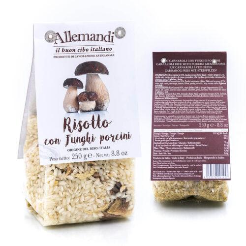 Risotto con funghi porcini - Preparato per risotti - Allemandi