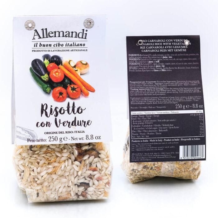 Risotto con verdure - Preparato per risotti - Allemandi