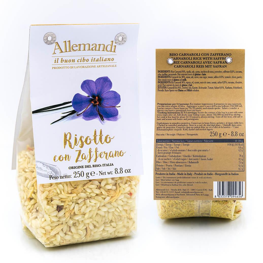 Risotto con zafferano - Preparato per risotti - Allemandi