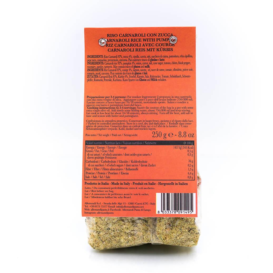 Risotto con zucca - Preparato per risotti - Allemandi Retro