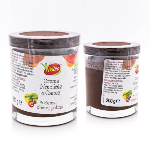Crema di nocciole e cacao - Biologica - Vivibio