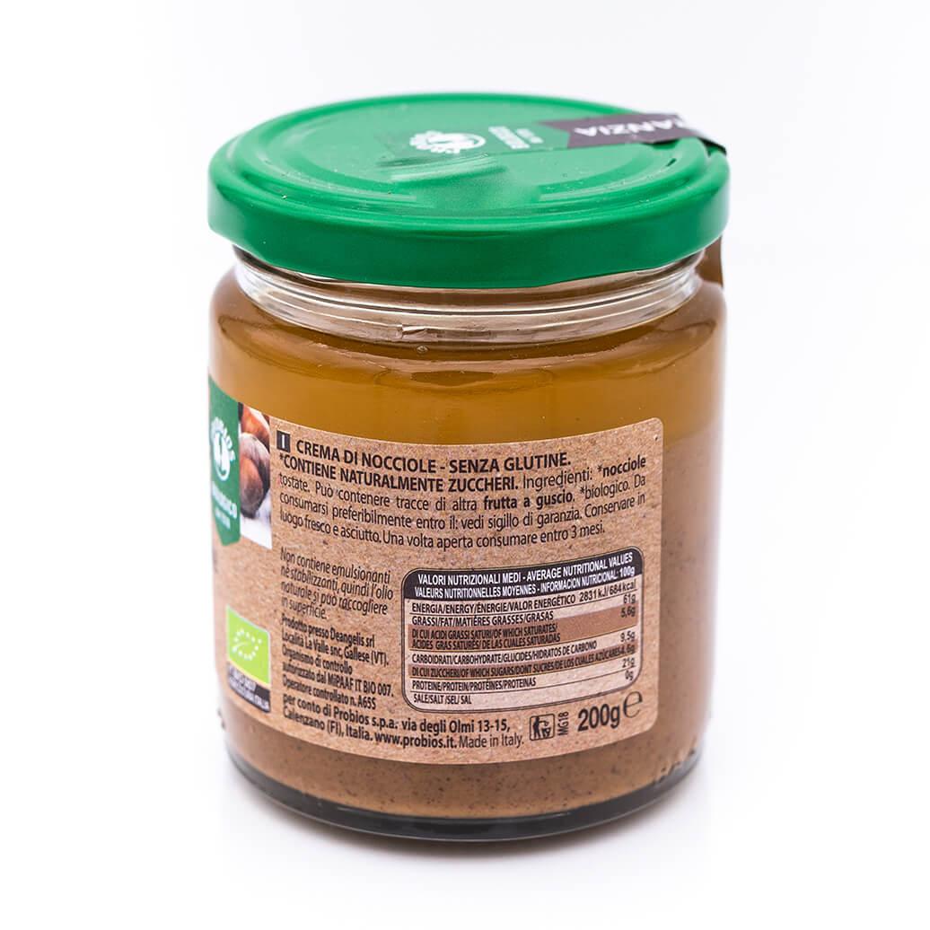 Crema di nocciole italiane - Biologica - Probios retro