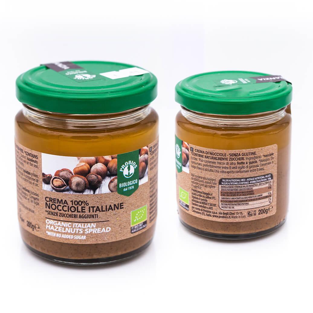 Crema di nocciole italiane - Biologica - Probios