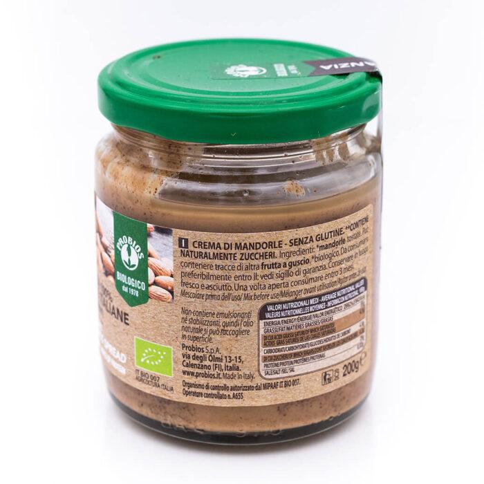 Crema scura di mandorle italiane - Biologica - Probios Retro