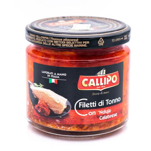 Filetti di tonno con 'Nduja calabrese - Riserva Oro - Callipo singolo