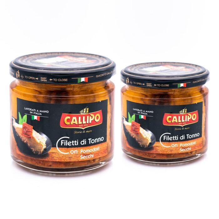 Filetti di tonno con pomodorini secchi - Riserva Oro - Callipo doppio