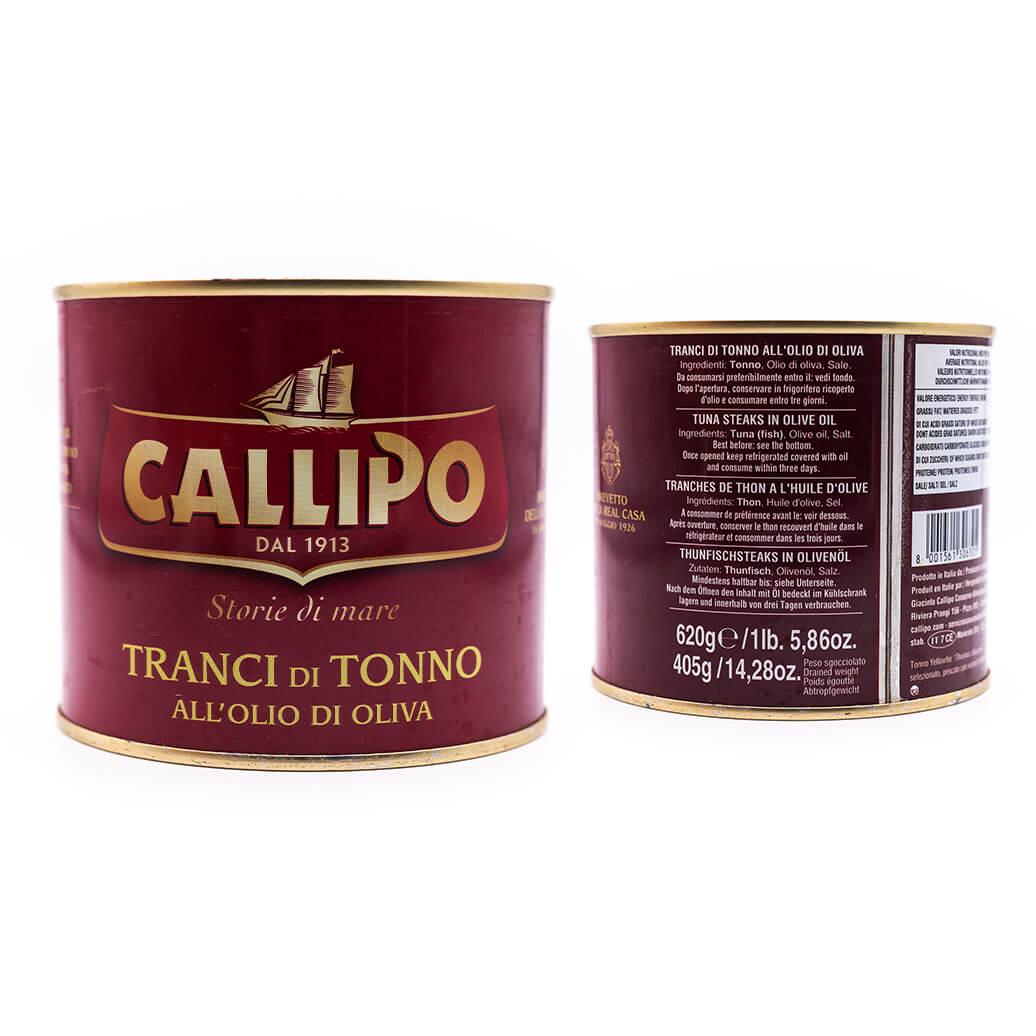Filetti di tonno in olio di oliva - Callipo 620g fronte
