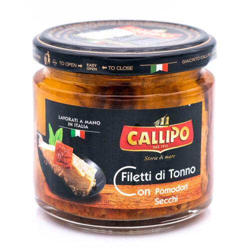 Filetti di tonno in olio di oliva con pomodorini secchi - Riserva Oro - Callipo