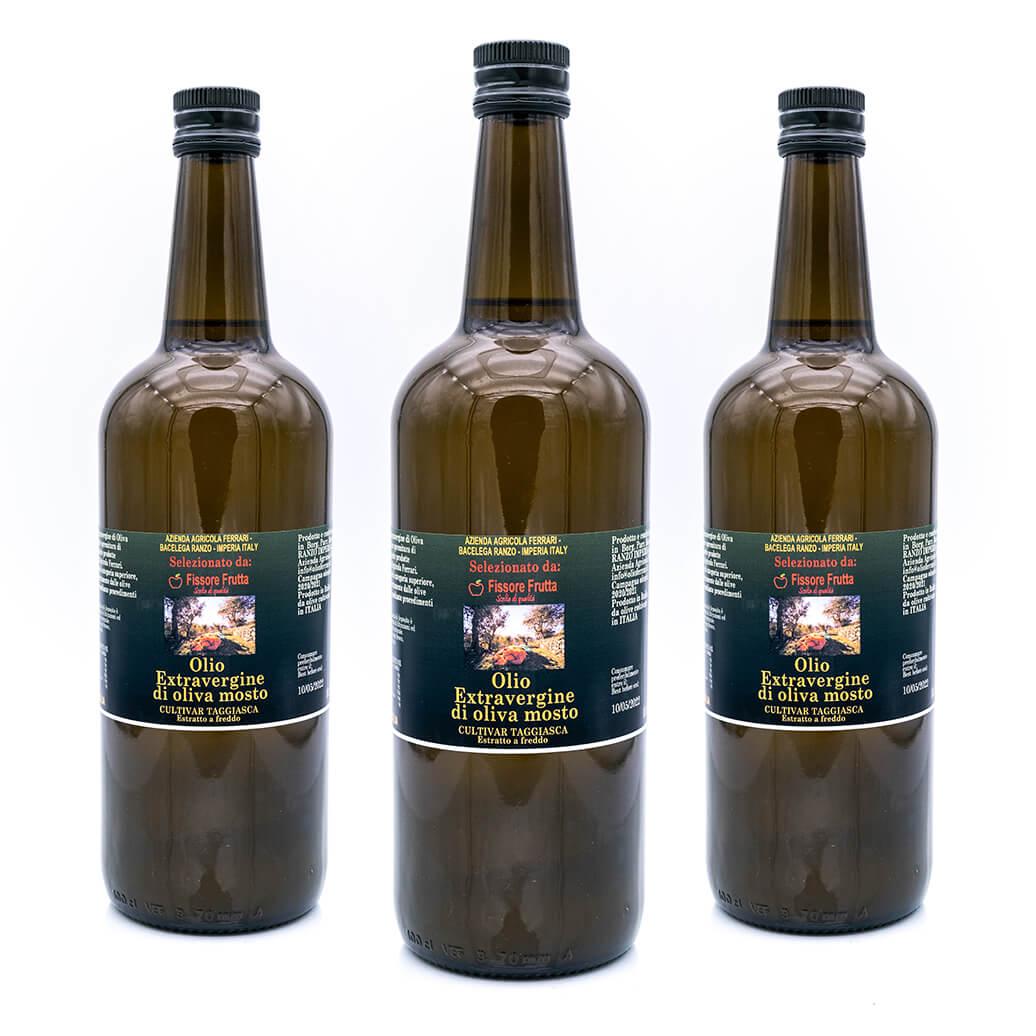 Olio Extra vergine di oliva mosta - Cultivar Taggiasca - Fissore Frutta