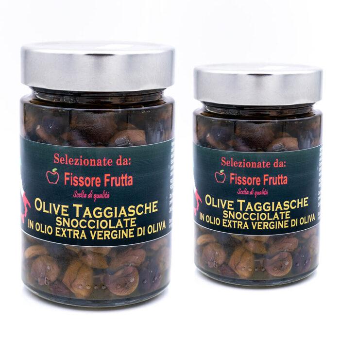 Olive taggiasche snocciolate in olio extra vergine di oliva - Fissore Frutta