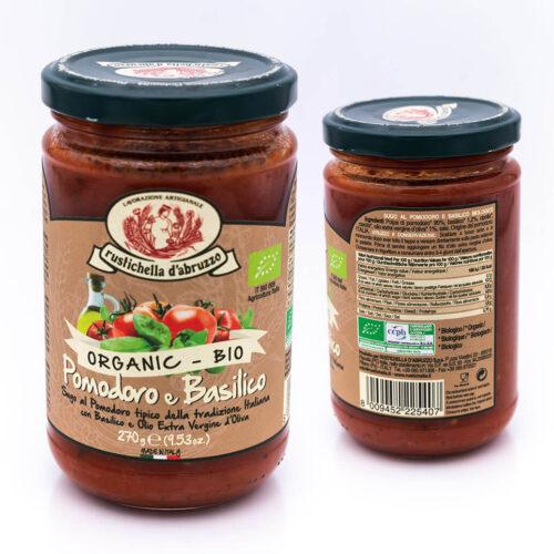 Passata al pomodoro e basilico - Biologica - Rustichella d'Abruzzo