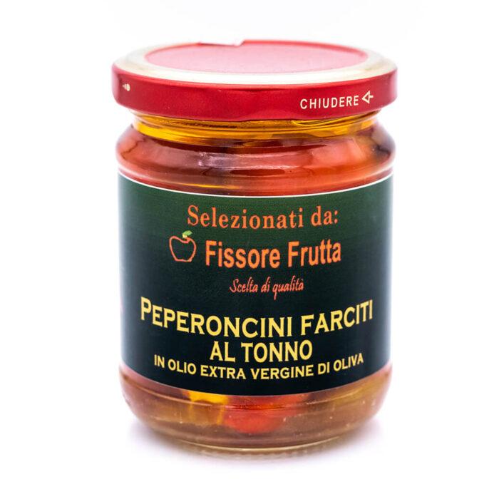 Peperoncini farciti con tonno in olio extra vergine di oliva - Fissore Frutta