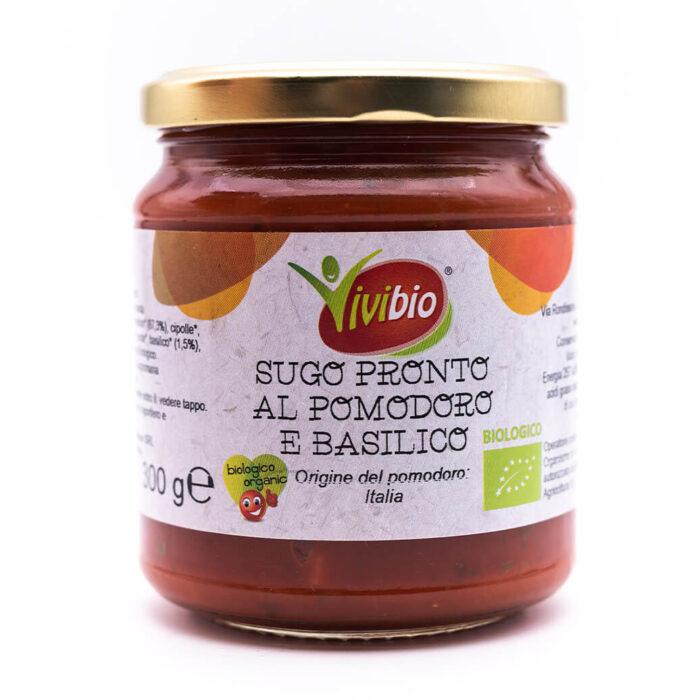 Sugo al pomodoro e basilico - Biologica - Vivibio
