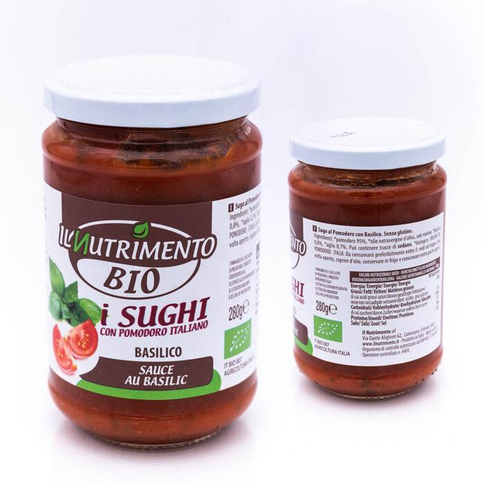 Sugo di pomodoro al basilico - Biologica - Il Nutrimento Bio