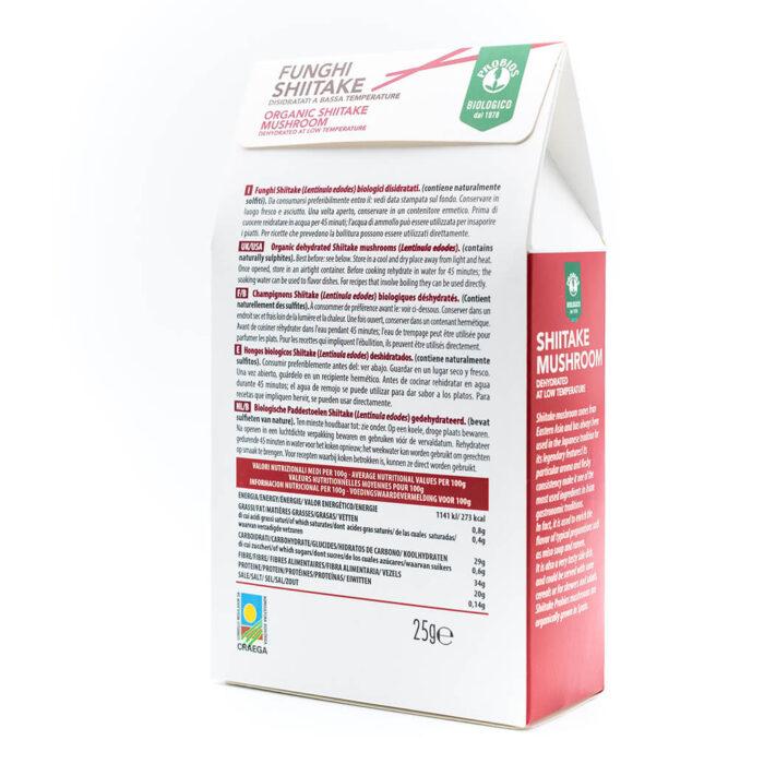 Funghi Shiitake 25g - Biologico - Dieta Macrobiotica - Probios
