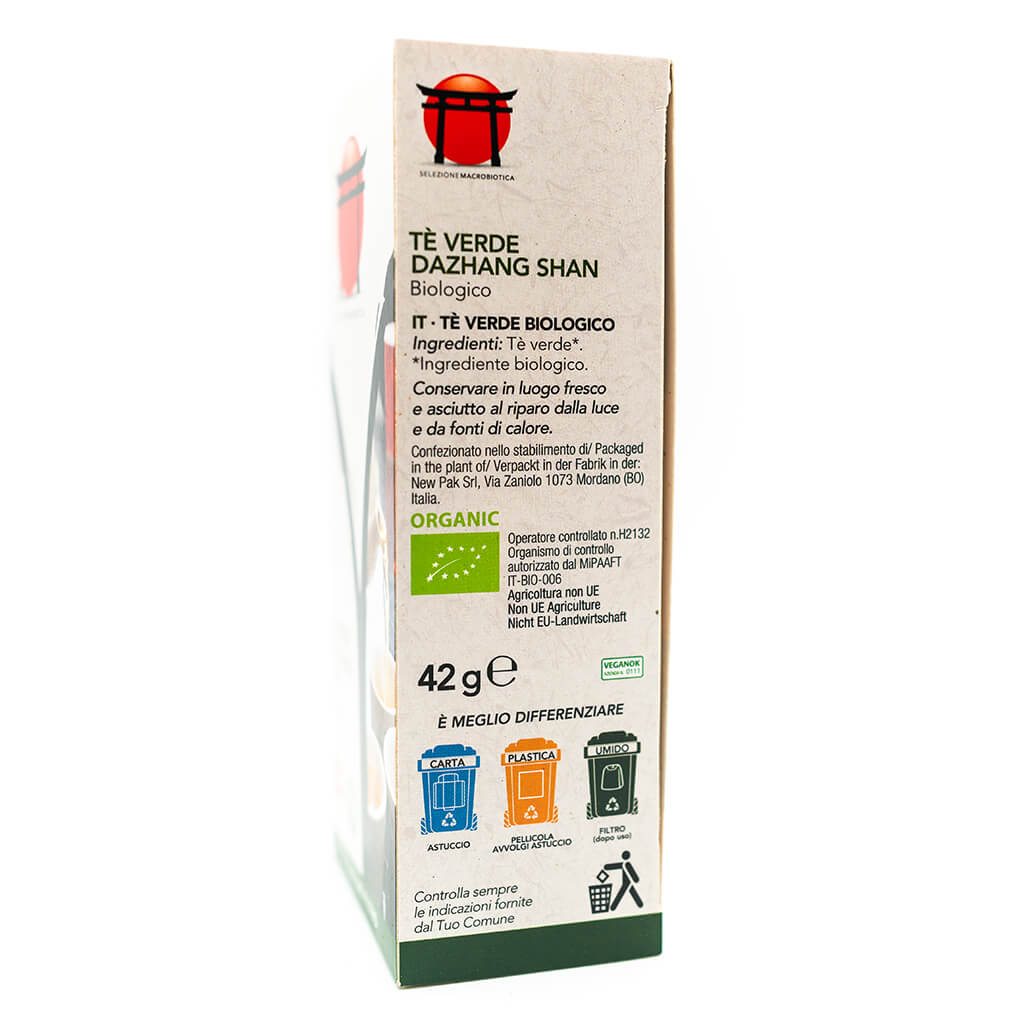 Tè verde Dazhang Shan - Biologico - Dieta Macrobiotica - Vivibio